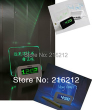 Board clock electronic clock projection alarm Quieten lounged multifunctional luminous neon message