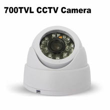 700TVL Serveillance Camera Dome CCTV Security Camera 24pcs IRCUT Leds Night Vision ABS Material Color Image Indoor