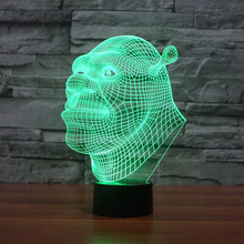 Desk Lamp 3d NEW Shrek 7 Colors Change Touch Switch Table LED Light Night Lighting Home Decoration Household Accessories