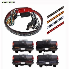 2pcs 50cm Flexible Car Tailgate Light Bar 98-LED Running/Brake/Reverse/Flowing Turn Signal/Rear Strip Light Lamp