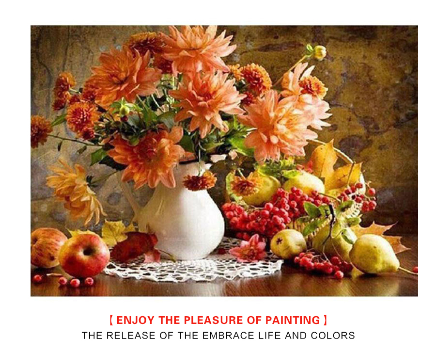 Frameless Europe Vintage Painting DIY Painting By Numbers Kits Acrylic Paint On Canvas Handpainted Oil Painting For Wall Artwork