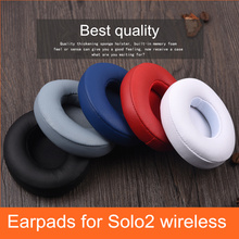 Replacement Earpads Ear Pads Earbuds For Beats by Dre Solo2 Solo2.0 Wireless Bluetooth Headphone