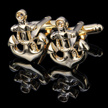 Unusual stainless steel anchor men's shirts cufflinks, antique antique gold cufflinks, personalized cufflinks(China)