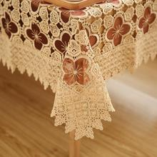 High grade Hollow Out Water Soluble Lace Tablecloth Household Supplies Tea Table Cloth White Table Runner Table cover dustcloth