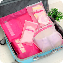 5Pcs/lot Portable Travel Storage Bags Waterproof Clothing Underware Storage Bags Tote Reusable Folding Admission package