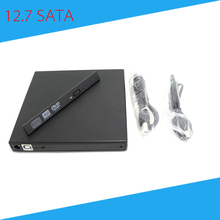 [Free Shipping] 12.7mm External USB DVD RW Enclosure Case for Optical Drive High Quality