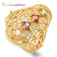 Charming fashion crystal rings jewelry female costume accessories zircon(China)