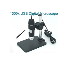 1000x USB Digital Microscope + Holder(new), 8-LED Endoscope With Measurement Software USB Microscope(China)