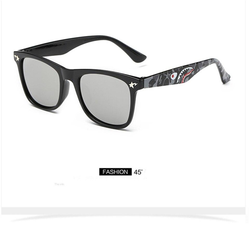 Fashion Kids Sunglasses lovely Sunglasses Mosaic Boys Girls Pixel Eyewares With Case Children Gift (2)