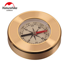 Naturehike Mini Military Camping Marching Lensatic Compass Magnifier Gold Wild Survival Navigation Compass(China)