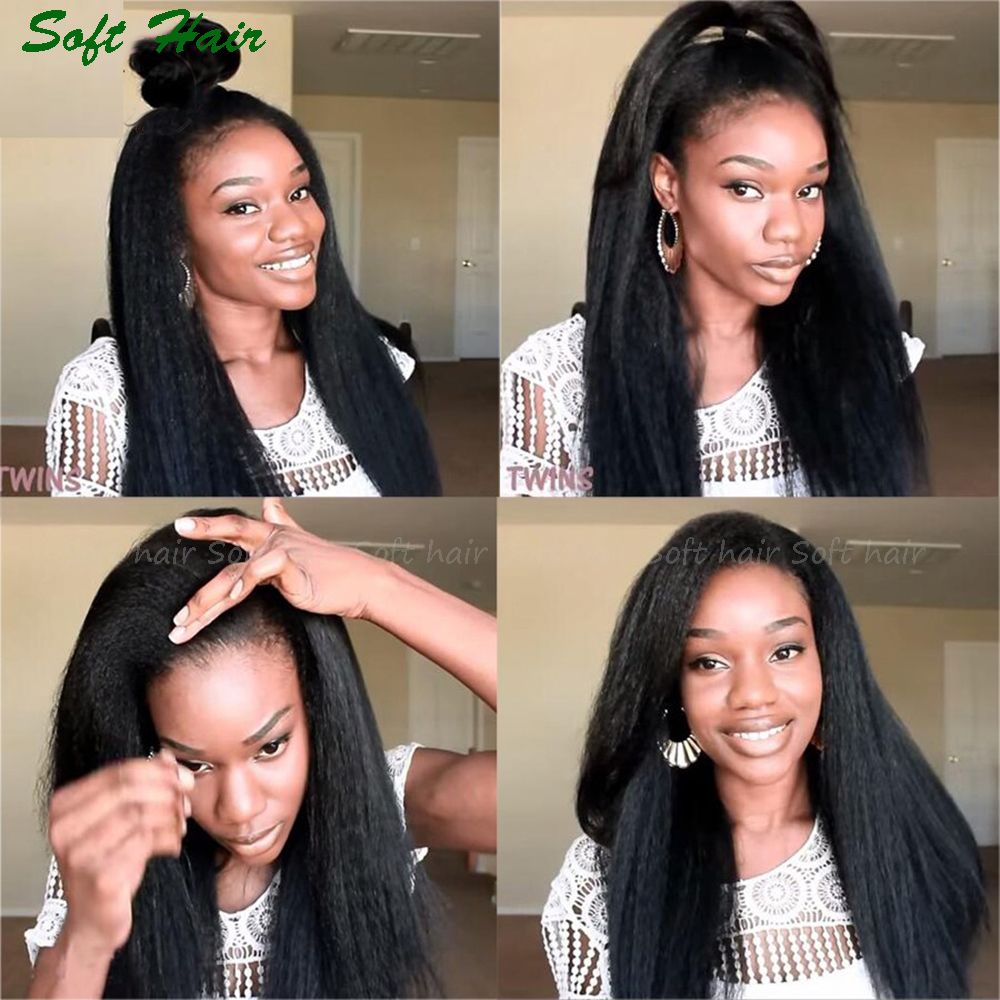 Free Combination 12~22 Coarse Yaki Kinky Straight Brazilian Virgin Hair Natural Non Dyed Top Grade Cuticle Intact Hair 3 pcs<br><br>Aliexpress
