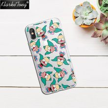 KlarkeTong Funny Simpsons Evil Krusty Clown Case For iPhone 8 8PLUS X Silicone Transparent Luxury Protective Phone Cover Quotes