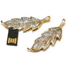 Necklace Tree Leaves Lovely Gift Pendrive 512GB USB Flash Drive Memory Stick Usb Key Pendrive 16GB Pen Drive 64GB 128GB 32GB 2.0