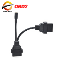 for Mitsubishi 12 Pin To 16 Pin Female OBD 2 Extension Diagnostic Tool Adapter Connector Cable 2017 Top selling(China)
