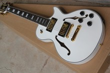 custom shop New Top Quality Mahogany body guitar LP guitar CUSTOM jazz white color 6 Strings electric guitar Free Shipping(China)