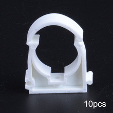 NEW 10pcs PPR Hinged Interlock Plastic Pipe Tube Clips For Bathroom Plumbing Tools