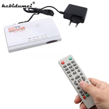 kebidumei HDMI HD 1080P Without VGA Version DVB-T2 TV Box AV CVBS Tuner Receiver Remote Control With CRT and LCD EU/US Plug