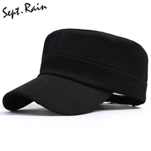[Sept.Rain] Man Woman's Snapback Vintage Army Hat Cadet Patrol Adjustable Baseball Caps Unisex Flat Top Trucker Baseball Cap