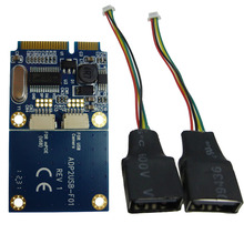 Mini Pcie to dual USB interface adapter laptop Mini ITX Mini PCI Express to 2 usb2.0 card ADP02401(China)