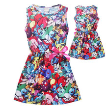 Girls dress up costumes pokemon go girls princess christmas dress kids clothes cartoon pikachu costume roupas infantis menina