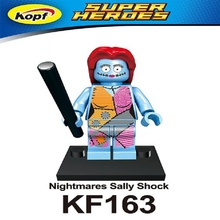 Single Sale Super Heroes Nightmares Sally Shock Figures Clara Oswald Matt Smith Building Blocks education childrens Toys KF163
