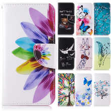 High Quality DIY Lucky tree Flowers Giraffe butterfly Cover case For Huawei P8 Lite 2017 Honor 8 Lite 2017 cover wallet stand
