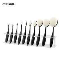 Oval Makeup Brush Holder 10 Grids Toothbrush Oval Makeup Brushes Display Holder Stand Storage Boxes Organizer Brush Showing Rack