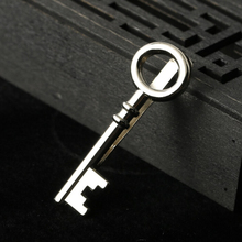 Fashion Suits Men's Key Shape Tie Clips for Wedding Party Gift Business Neck tie Clips Alloy Pin Clasp Accessories