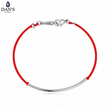 DAN'S Valentine's Day gift 3 metal colors new red rope bracelets & bangles simply fashion with lower price 113960White(China)