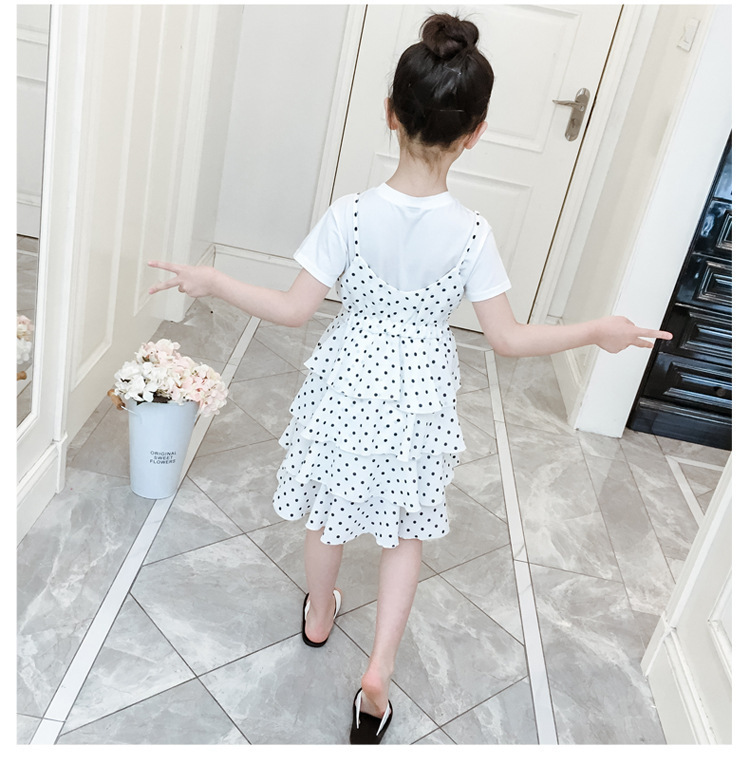 2 Pcs Teenage Girls Clothing Sets Kids Outfits Baby Girls Fashion Clothing Sets Kids Sleeveless Dress And T Shirts Clothes Suits 14 Online shopping Bangladesh