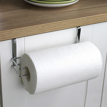 Stainless Steel Kitchen Tissue Hanging Holder Bathroom Toilet Roll Paper Holder Towel Rack Kitchen Cabinet Door Hook Holder(China)