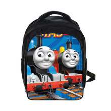 New Arrival Hot Cartoon Thoma And Friends Children Bags Thomas Train Cartoon Bags Teenagers Backpack 13 Inch Kids Bags