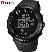 OTS Luxury Brand Men Sports Watches Men Waterproof Outdoor Electronic LED Digital Watch Men Casual Wrist Watch Relogio Masculino