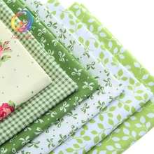 Buy Green Printed Twill Cotton Fabric Patchwork Sewing Baby Bedding Dress Skirt DIY/Cushion Tissue Material 40cm*50cm 6pcs/Lot for $6.30 in AliExpress store