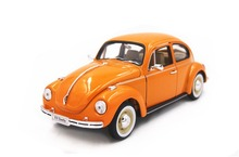 Welly 1:24 Volkswagen Beetle Hard Top Orange Diecast Model Car Vehicle Toy New in Box