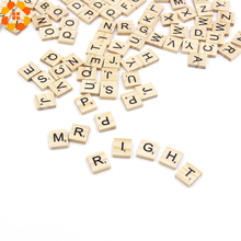 100PCS Wooden Alphabet Scrabble Tiles Letters&Numbers Crafts Wood Wedding Party Decoration Kids Toys