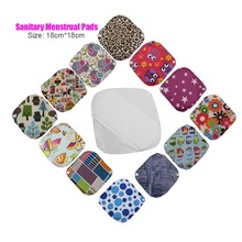 9pcs/lot Small Size 18*18cm Soft Bamboo Washable Reusable Cloth Menstrual Sanitary Maternity Mama Pads Low Flows for Women