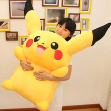 47'' / 120cm Japan Anime Pikachu Stuffed Soft Plush Giant Pikachu Toy Nice Present for Baby Free Shipping