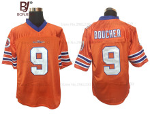 BONJEAN Mens Adam Sandler 9 Bobby Boucher American Football Jerseys The Waterboy Mud Dogs Football Jersey-Orange(China)