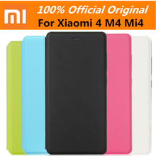 100% Original Smart Leather Case Protective PU Flip protector Cover with Wake up For Xiaomi 4 mi4 M4 (not for M4i)