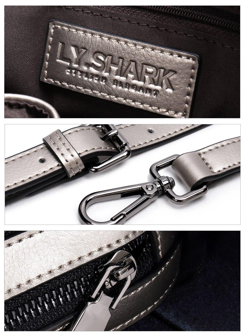 LY.SHARK female bag ladies genuine leather women bag shoulder messenger bag women handbag big famous brand designer fashion tote 15