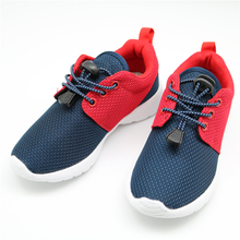 Apakowa Children Casual Shoes Elastic Lace Light Weight Mesh Kids Shoes Boys Girls Sneakers Breathable Sport Shoes EU 25-36(China)
