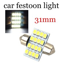 new product hot 12V 3528 16 SMD LED Car Dome F-estoon Interior Light Bulbs 31mm Auto Roof Lamps 10 pieces