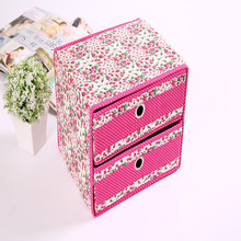 Environmentally Friendly Fashion Multifunction Layer Two Pumping Storage Sox Folding Makeup Organizer For Home Decoration