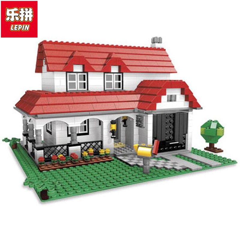 Lepin 24027 City series 3-in-1 Building Series American Style House Villa Building Blocks 4956 Brick toys for children<br>
