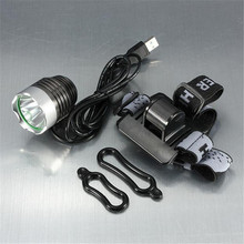 A1 Headlamp 3000 Lumen XML T6 USB Interface LED Bike Bicycle Light Headlamp Headlight 3Mode 2 in 1 Wholesales&Retails