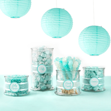 8pc Icing Blue (Mix 20cm 30cm) Chinese Paper Lanterns Decorative Balls Wedding Party Home Yard Garden Hanging Decor