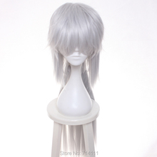 Jiraiya from Naruto Silvery White long straight cosplay costume wig.free shipping