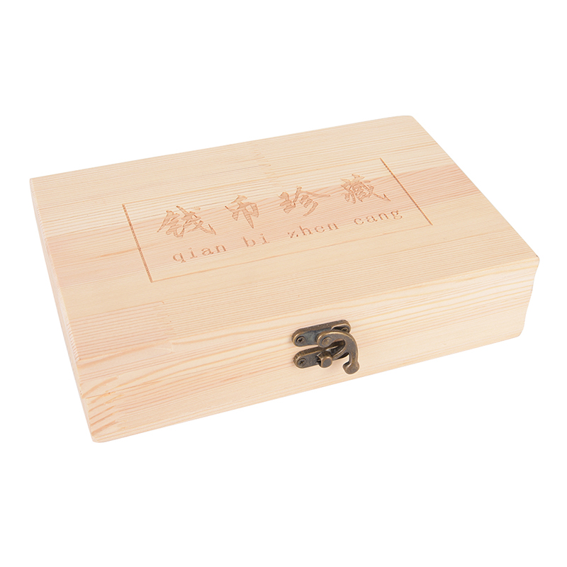 Natural Wooden Jewelry Packing Box With 50 Round Box Vintage Art Wooden Box Craft Case For Underwear Scarf Clothing Wedding Gift