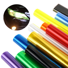 1pcs 100CM*30CM Car Light Sticker Film Glaze 3 Layer Fog Light HeadLight Taillight Tint Vinyl Films Sheet Car Decoration Decals